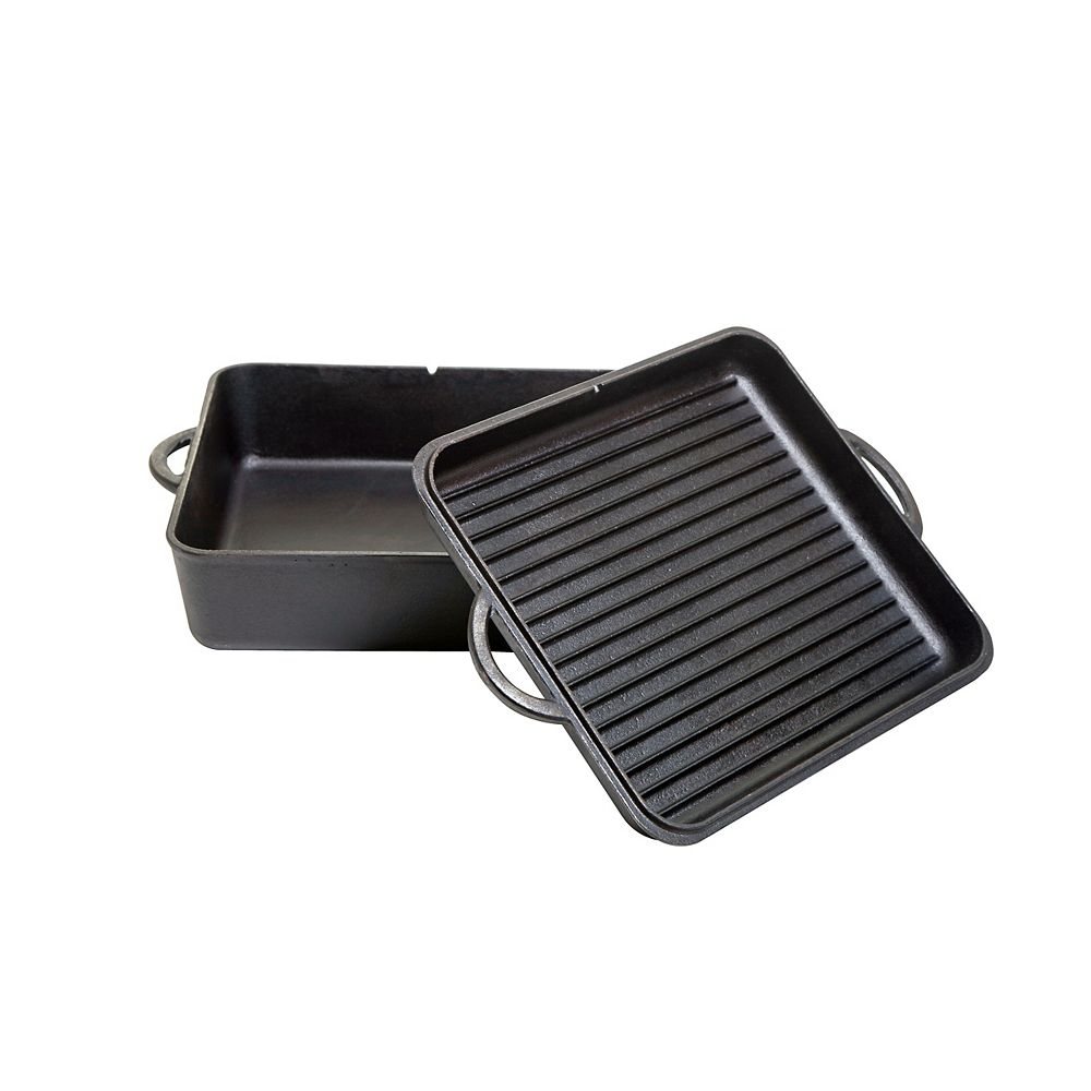 Camp Chef 13-inch Cast Iron Square Dutch Oven