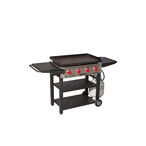 4-Burner Propane Flat Top in Black