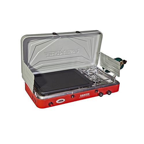 Mountain Series Rainer Two Burner Stove with Griddle