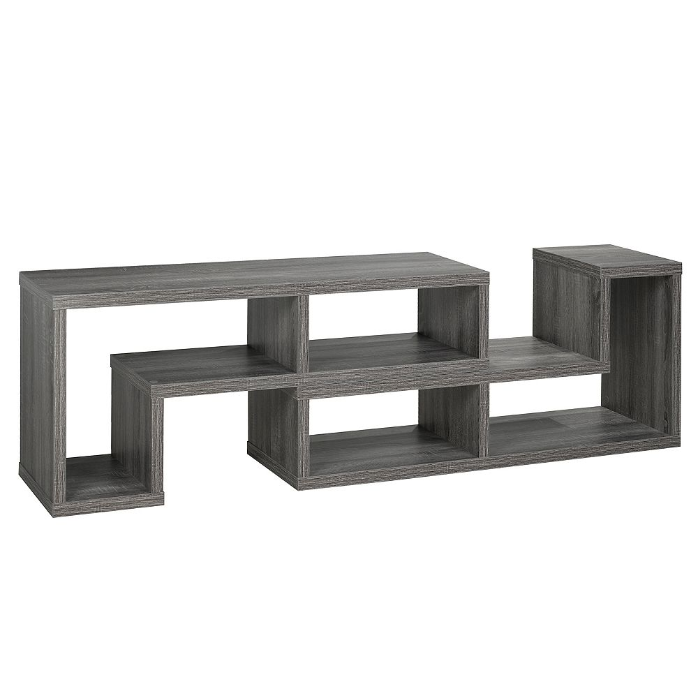 Brassex Inc. Multiple Configuration TV/Display Stand Grey