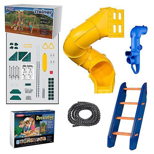 Kit d'aire de jeu Trainer Or prêt-à-assembler