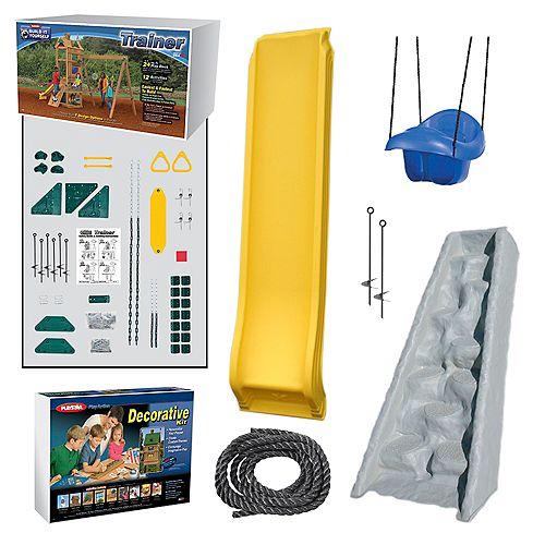 Kit d'aire de jeu Trainer Argent prêt-à-assembler