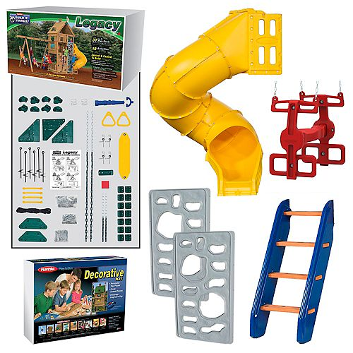 Legacy Build It Yourself Gold 18-Activity Play Set with 37 sq. ft. of Deck