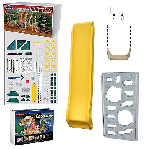 Kit d'aire de jeu prête-à-assembler Contender Bronze
