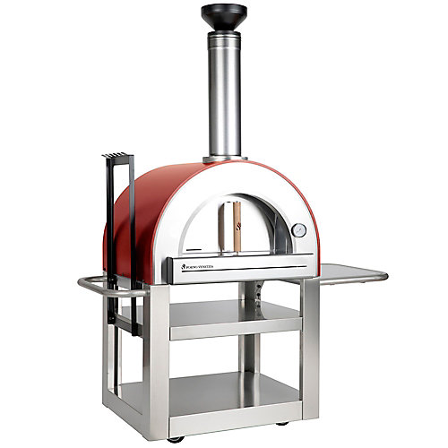 Pronto 500 Outdoor Pizza Oven in Red