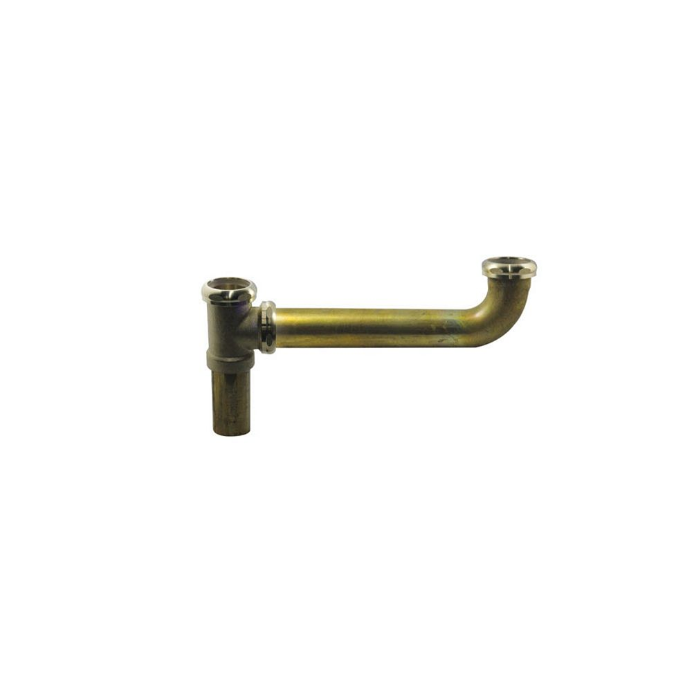OS&B Brass 1-1/2 inch x 16 inch End Outlet Continuous Waste - Slip Joint Connect