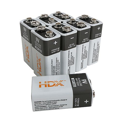 9V Alkaline Battery (8-Pack)