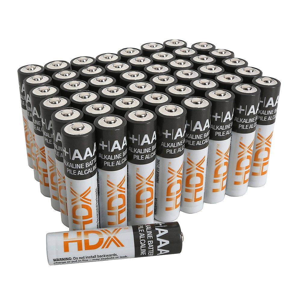 HDX AAA Alkaline Battery (48-Pack)