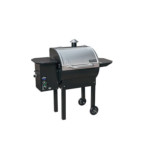 SmokePro DLX Pellet BBQ in Stainless Steel and Black