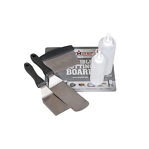 6-Piece Professional Griddle Tool Set