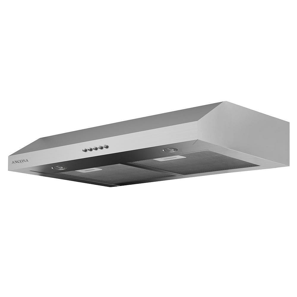 Ancona Slim Plus 30 inch Under-Cabinet Range Hood in Stainless Steel