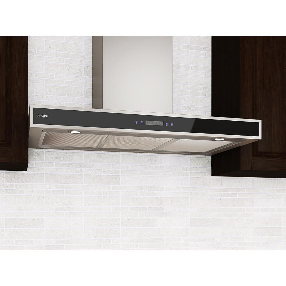 Ancona 36-inch Convertible Wall-Mounted Rectangle Range Hood in Stainless Steel
