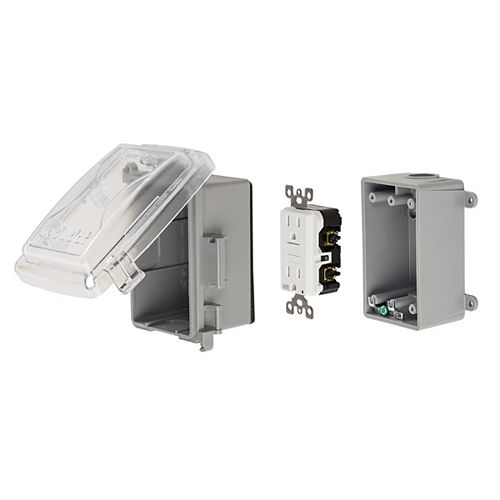 GFCI Medium clear while-in-use cover plastic kit