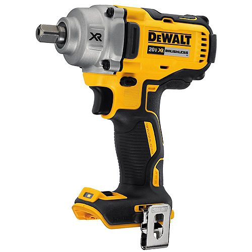 20V MAX XR Lithium-Ion Brushless Cordless 1/2-inch Impact Wrench with Detent Pin Anvil (Tool-Only)