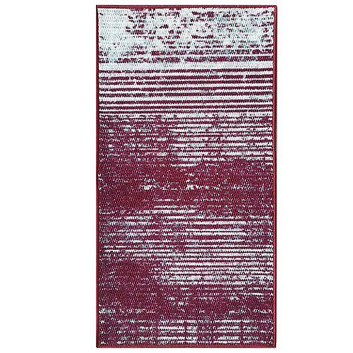 City Stripes 26-inch x  49-inch Red Rectangular Doormat