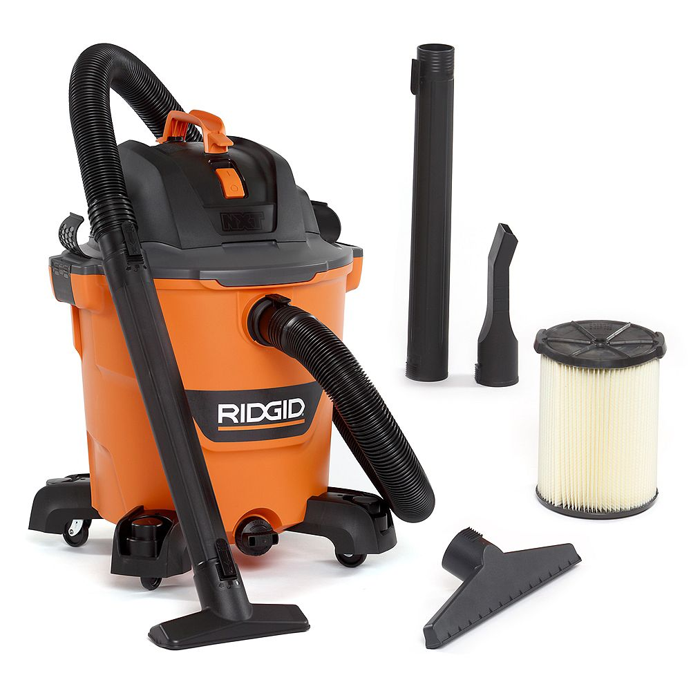 RIDGID Aspirateur sec/humide NXT de 45 litres (12 gal.), puissance de crête de 5,0 HP