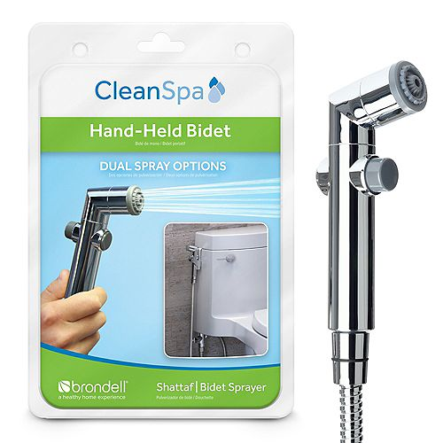 CleanSpa Hand Held Bidet in Silver