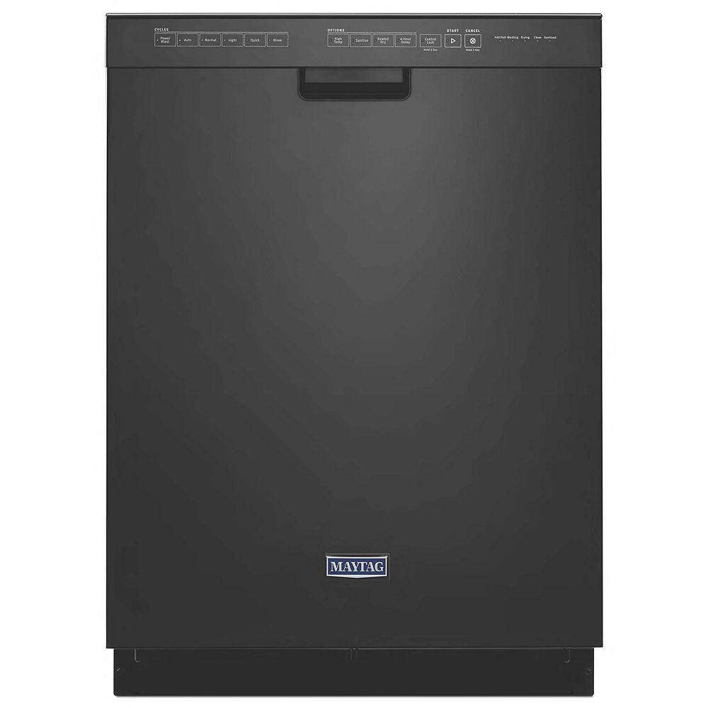 Maytag Front Control Dishwasher in Black with Stainless Steel Tub, 50 dBA - ENERGY STAR®