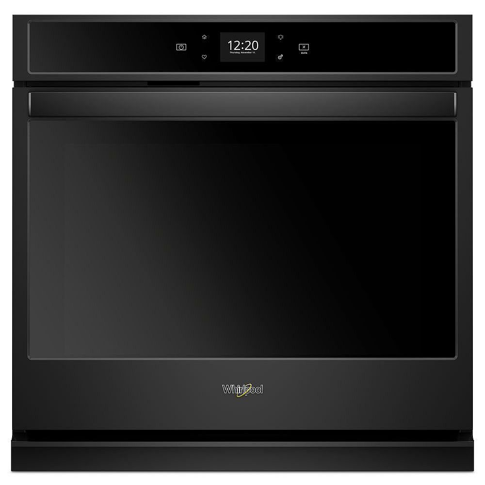 Whirlpool 30-inch 5.0 cu. ft. Smart Single Electric Wall Oven Self-Cleaning with Touchscreen in Black