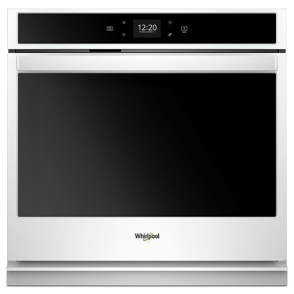 Whirlpool 27-inch 4.3 cu. ft. Smart Single Electric Wall Oven Self-Cleaning in White