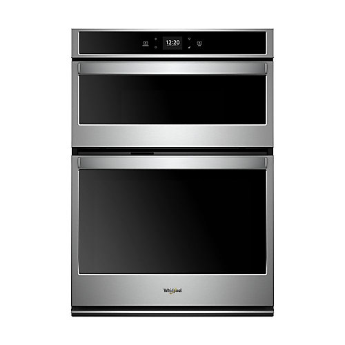 30-inch 6.4 cu. ft. Electric Smart Wall Oven Self-Cleaning & Microwave with Touchscreen in Stainless Steel