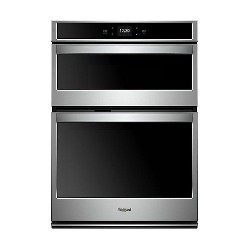 27-inch 5.7 cu. ft. Smart Double Electric Wall Oven & Microwave with Touchscreen in Stainless Steel