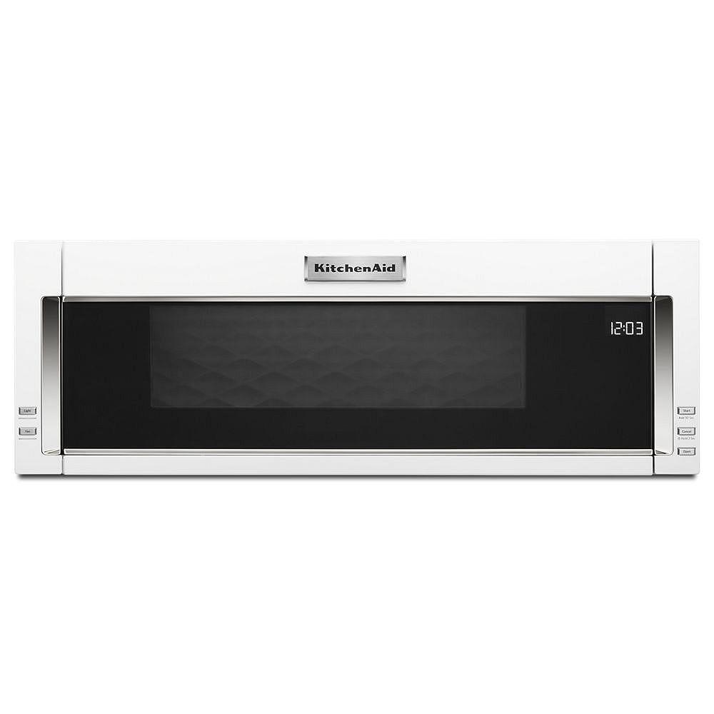 KitchenAid 1.1 pi. cu. profil bas sur toute la gamme Micro-ondes en blanc avec cuisson par capteur
