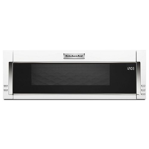 KitchenAid 1.1 cu. ft. Low Profile Over the Range Microwave in White with Sensor Cooking