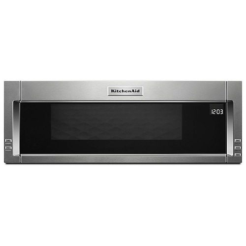 1.1 cu. ft. Low Profile Over the Range Microwave in Stainless Steel with Sensor Cooking