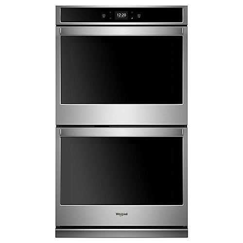 30-inch 10 cu. ft. Smart Double Electric Wall Oven with Touchscreen in Stainless Steel