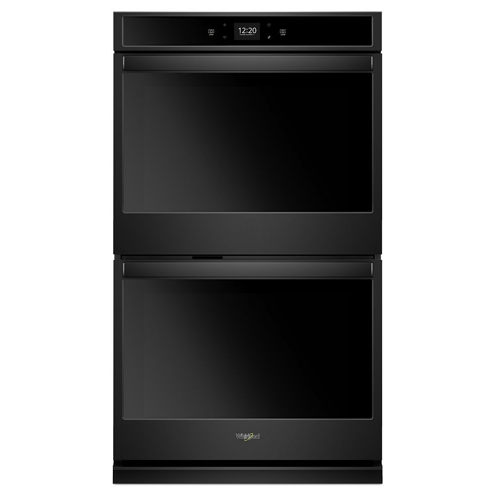 Whirlpool 30-inch 10 cu. ft. Smart Double Electric Wall Oven with Touchscreen in Black