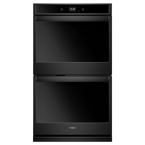 30-inch 10 cu. ft. Smart Double Electric Wall Oven with Touchscreen in Black