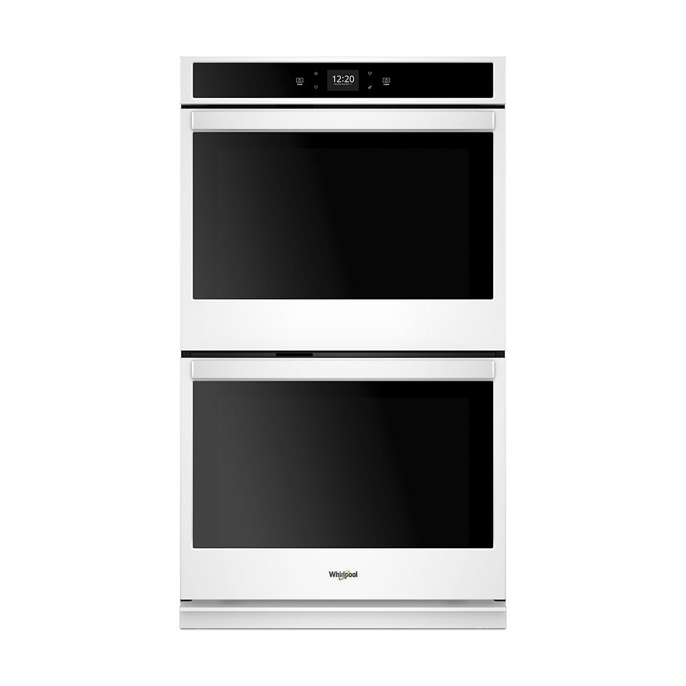 Whirlpool 27-inch 8.6 cu. ft. Smart Double Electric Wall Oven with Touchscreen in White
