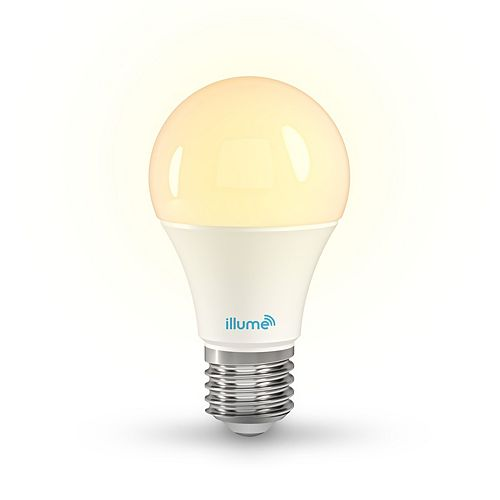 8W 750 Lumen LED Multi-Colour and Pure White A-19 Smart Bulb
