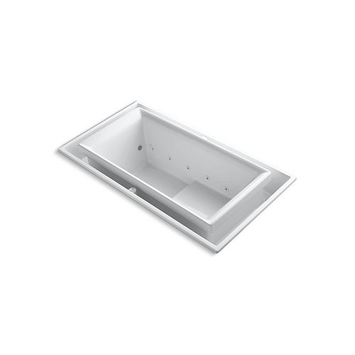 Whirlpool Tub With Reversible Drain In White