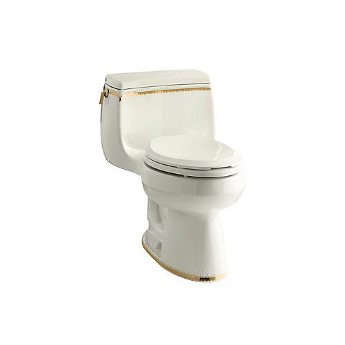Gabrielle Comfort Height 1-Piece 1.28 Gpf Single Flush Elongated Toilet With Prairie Flowers Design
