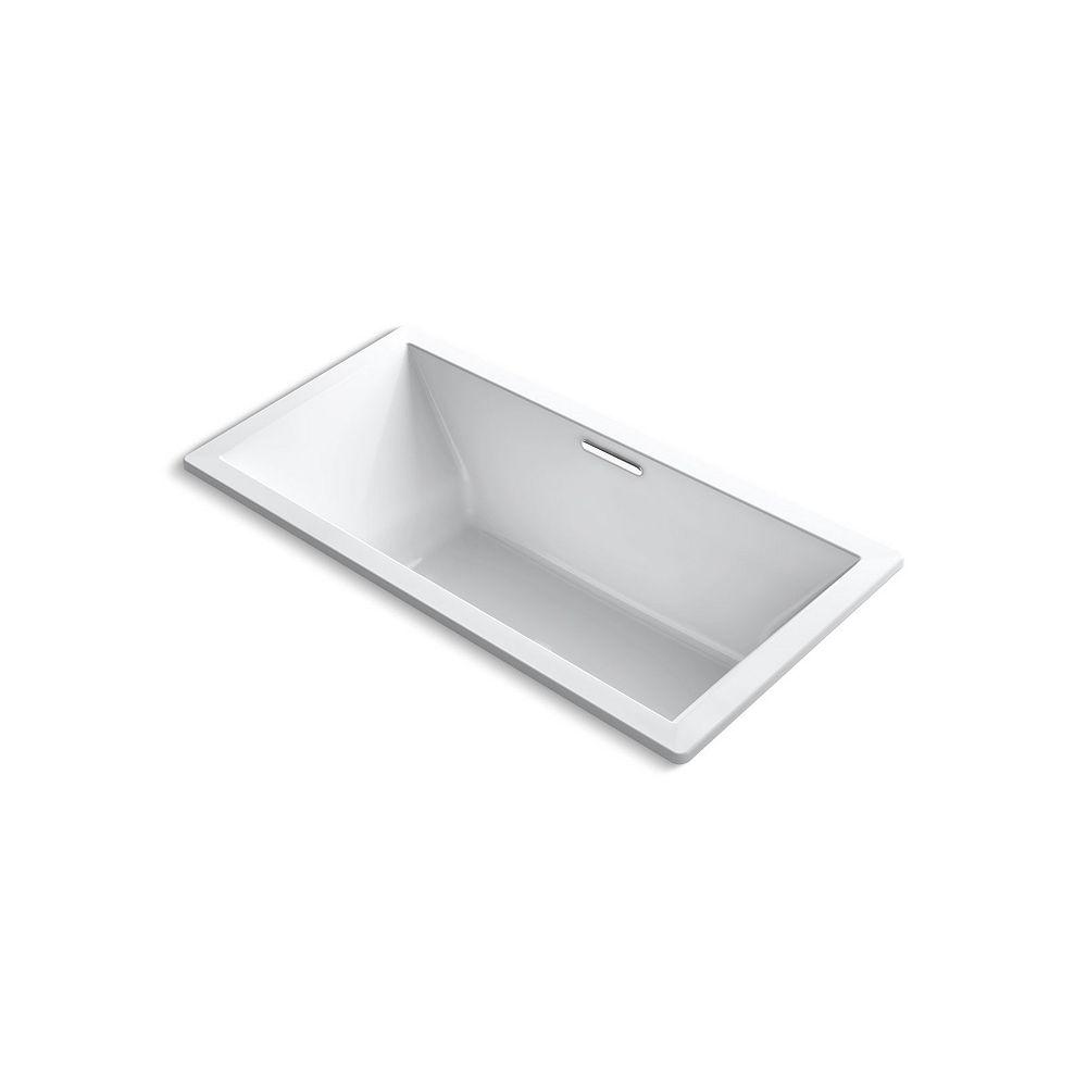 "KOHLER Underscore(R) Rectangle 72"" x 36"" drop-in bath with center drain"