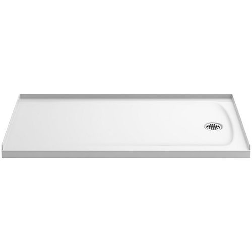 KOHLER Ballast 60 inch X 32 inch Single Threshold Shower Base In White