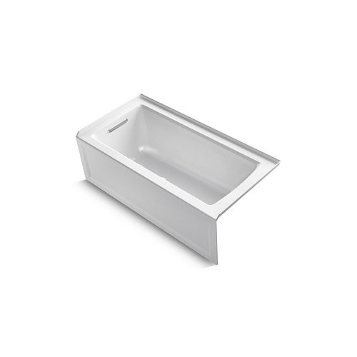 "KOHLER Archer(R) 60"" x 30"" alcove bath with integral apron, integral flange and left-hand drain"