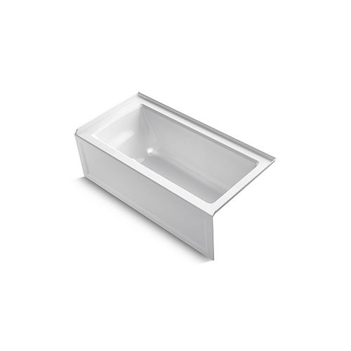 "KOHLER Archer(R) 60"" x 30"" alcove bath with integral apron, integral flange and right-hand drain"