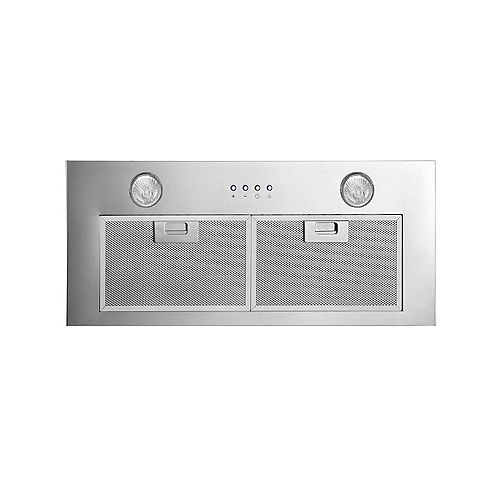 Inserta Chef 28 inch Built-In Range Hood in Stainless Steel