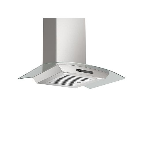 Tornado Elite 30 inch 30 inch Convertible Wall Mount Range Hood with a Stainless Steel and Glass Canopy