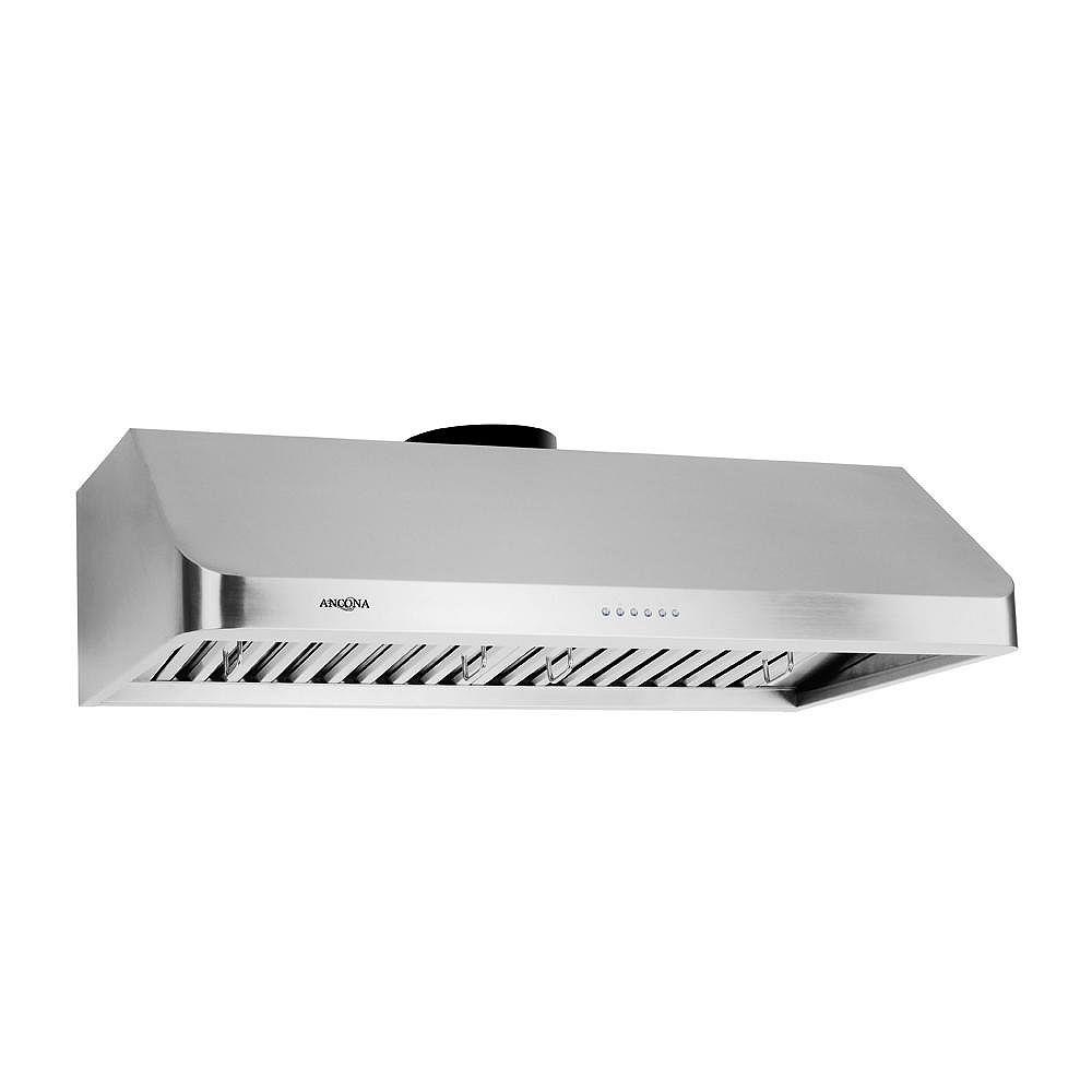 Ancona UCA 636 36-inch Range Hood with LED Lights