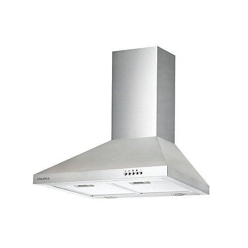 WPD 430 30-inch Wall-Mounted Classic Pyramid Range Hood in Stainless Steel
