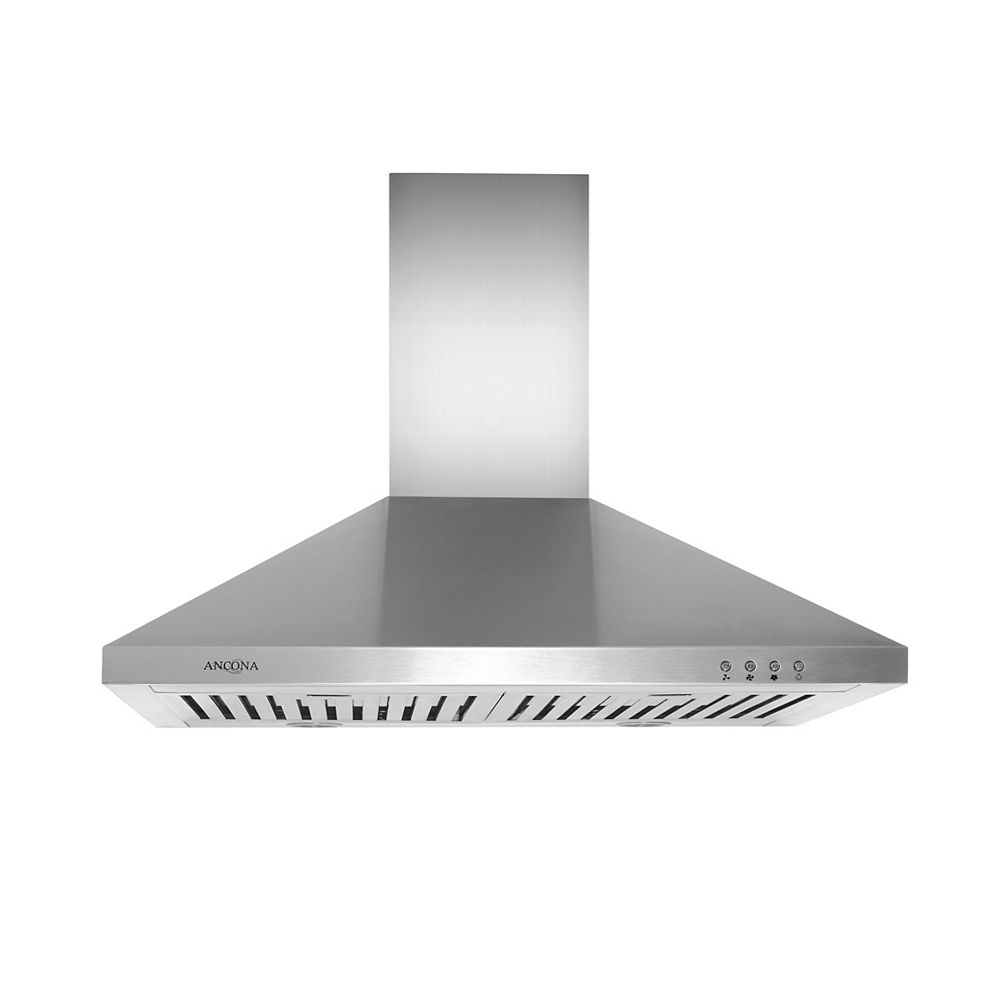 Ancona WPL430 30 inch Pyramid style Range Hood in Stainless Steel
