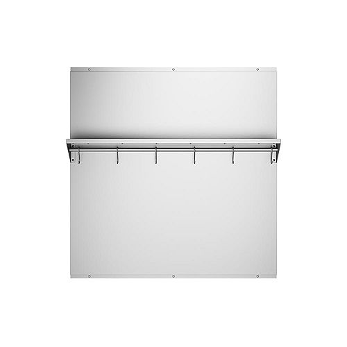 Ancona 30-inch x 30.75-inch Stainless Steel Backsplash with Stainless Steel Shelf