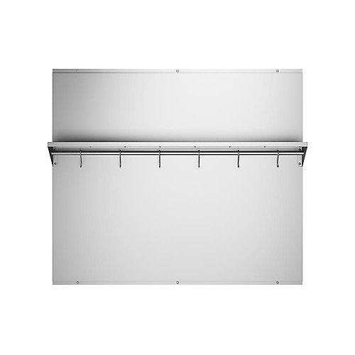 36-inch x 30.75-inch Stainless Steel Backsplash with Stainless Steel Shelf