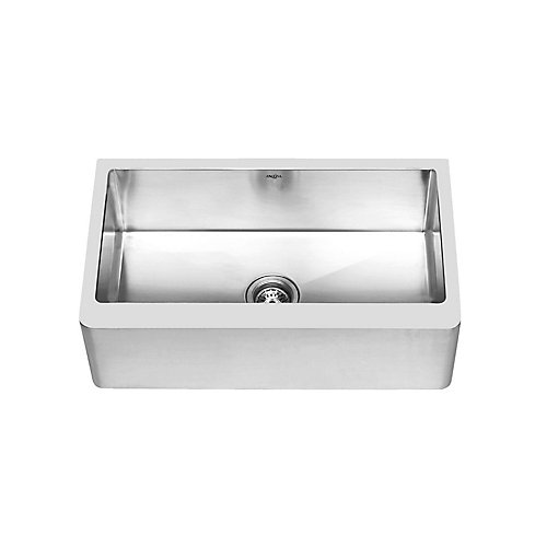 Prestige Series Undermount Farmhouse Apron  Stainless Steel 30 inch Single Bowl Handmade Sink