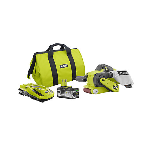 18V ONE+ Cordless Belt Sander Kit with 4.0Ah Lithium-Ion Plus Battery, Charger and Bag