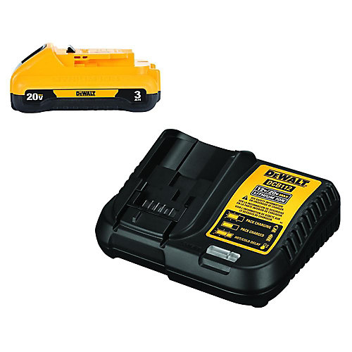 20V MAX Lithium-Ion Battery Pack 3.0Ah with Charger